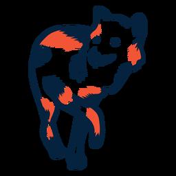 Lobo caminando duotono