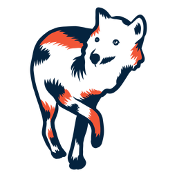 Wolf gehender Duoton