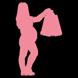 Bolso mujer vientre embarazo silueta