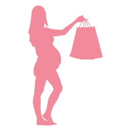 Woman bag belly pregnancy silhouette