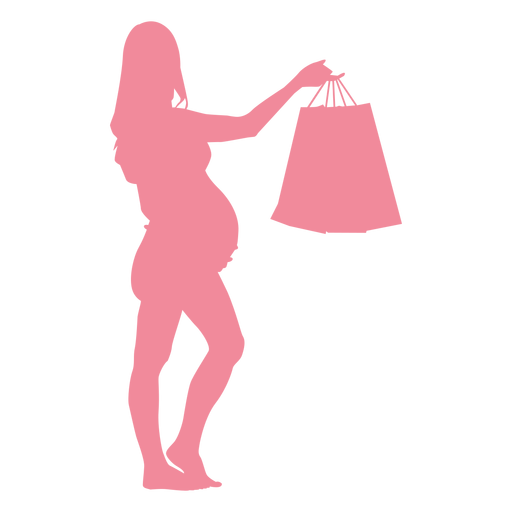 Woman bag belly pregnancy silhouette Transparent PNG