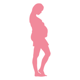 Frauenbauch-Schwangerschaftschattenbild