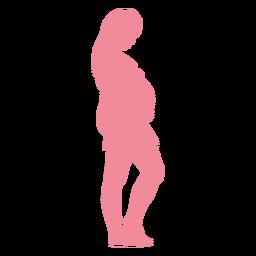 Mujer, vientre, embarazo, silueta