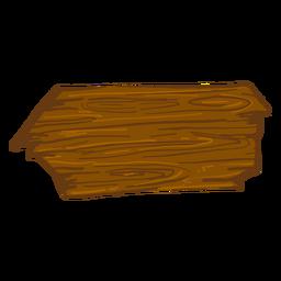 Sinal de seta de madeira