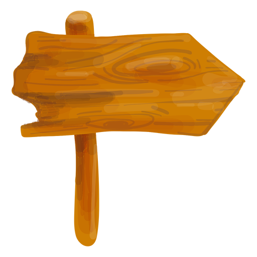 Wooden arrow sign board Transparent PNG