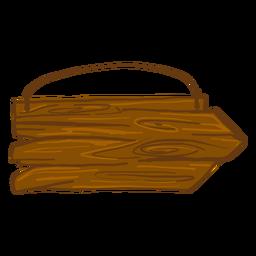 Sinal de direção de madeira