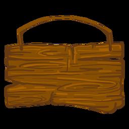 Placa de sinal de madeira