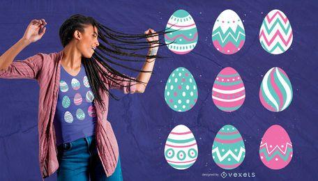 Diseño de camiseta de huevo de Pascua
