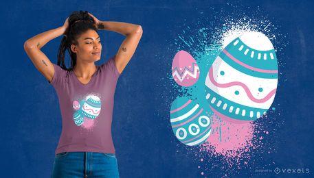 Diseño lindo de la camiseta del huevo de Pascua