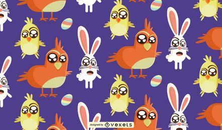 Patrón de Pascua divertido