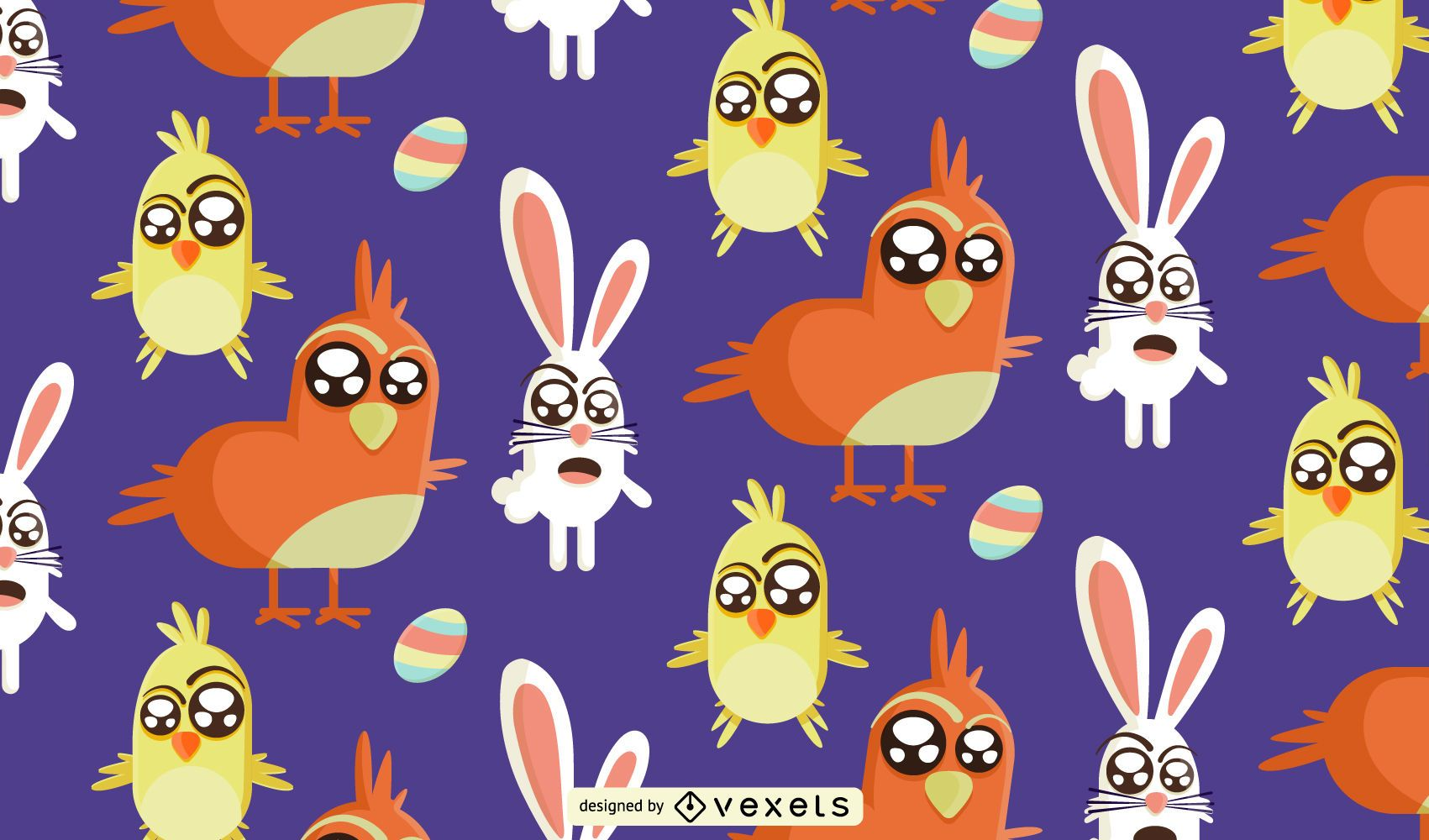 Funny easter Pattern