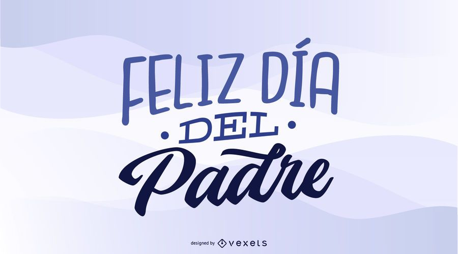 Diseño del feliz día del padre español