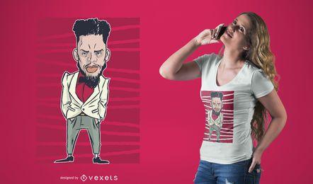 Cooler Charakter-T-Shirt-Entwurf