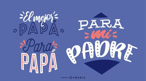 Spanish father's day lettering