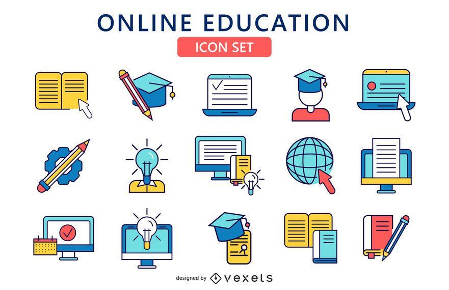Conjuntos de ícones de educação