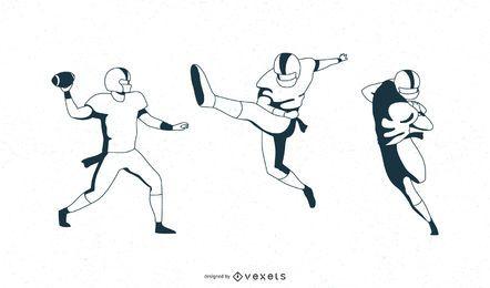 Pacote de vetores de jogadores de futebol