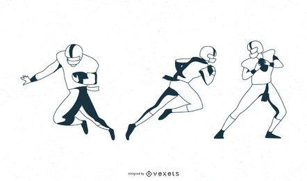Movimentos do jogador de futebol
