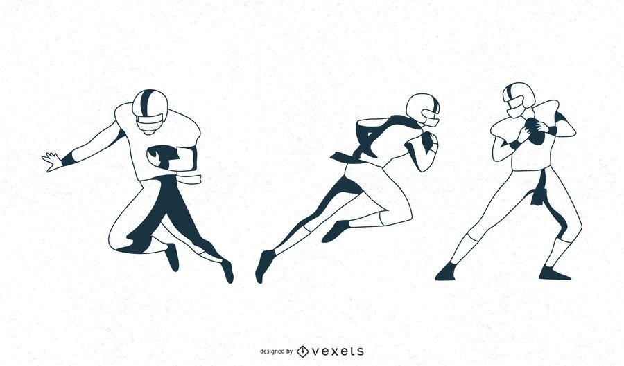 Bewegungen von Fußballspielern