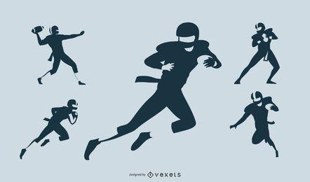 pack de jogador de futebol minimalista