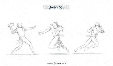 paquete de bocetos de futbolista # 2