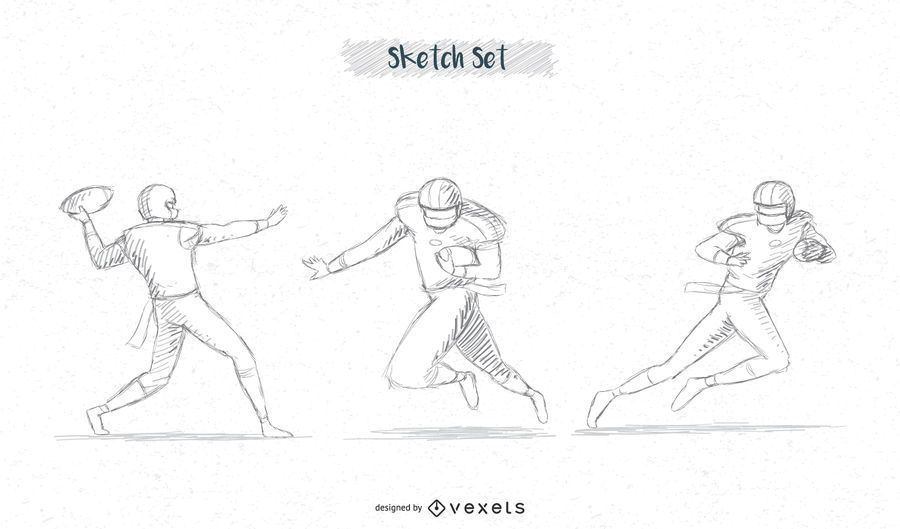 Fussballspieler Skizzenpaket 2 Vektor Download