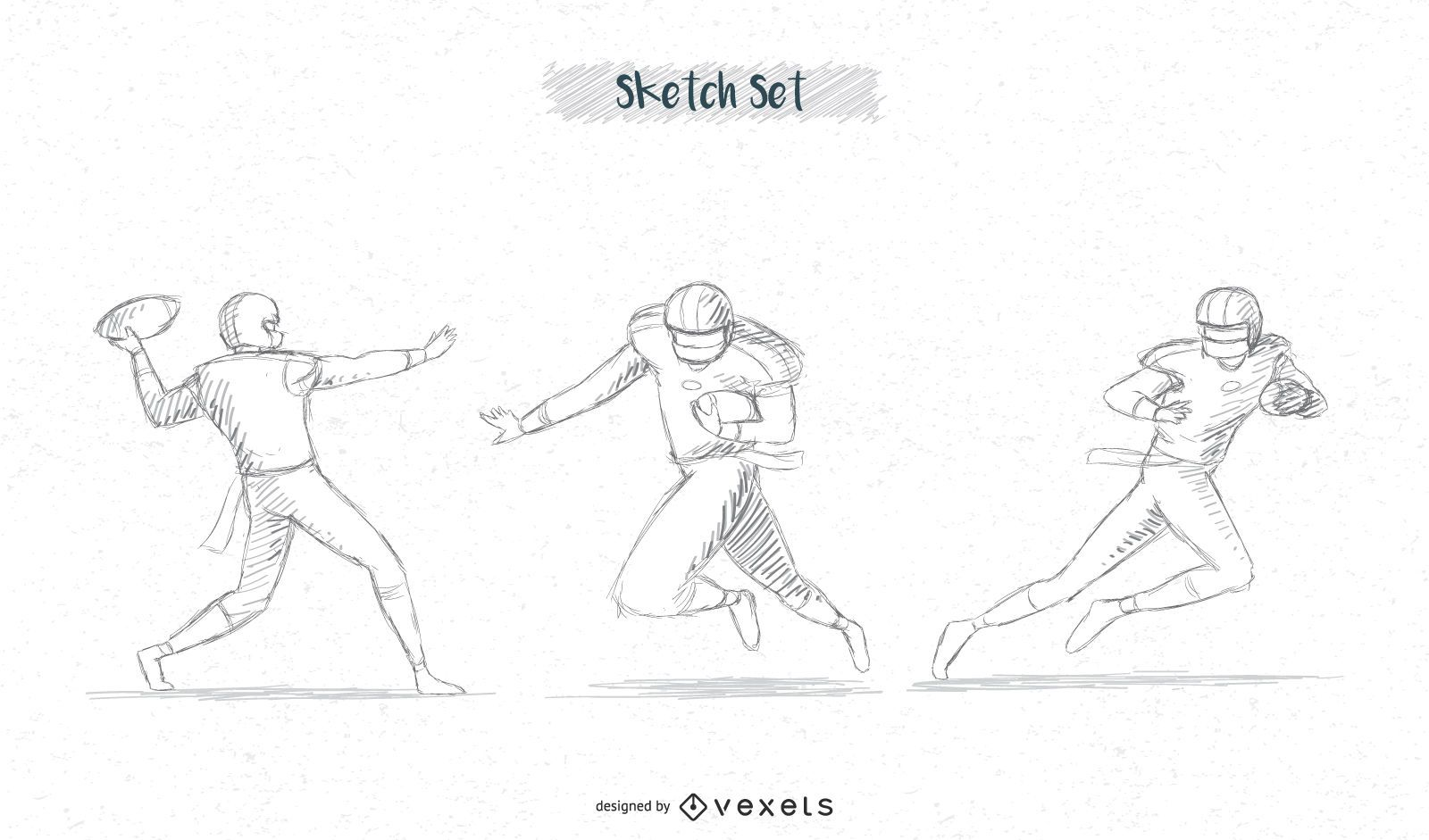 paquete de bocetos de jugador de fútbol # 2