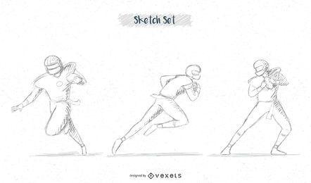 Fußballspieler-Skizzenpaket # 3