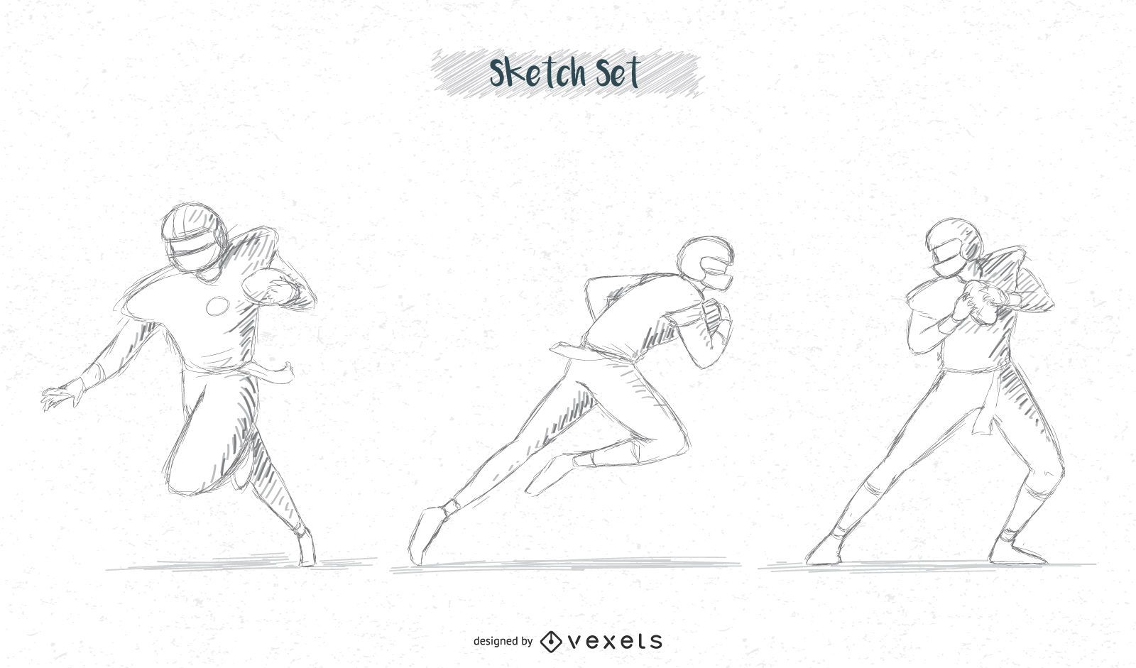 football player sketch pack #3