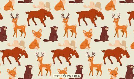 Animal da floresta padrão