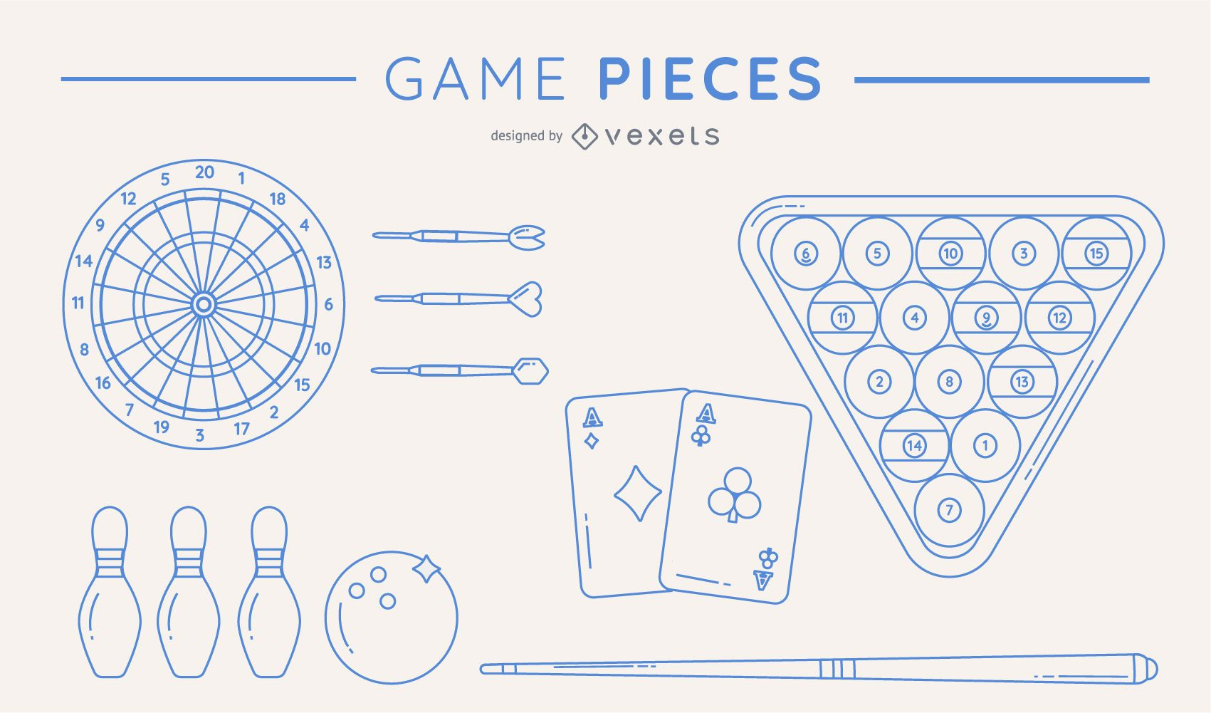 Silhouettes game piece pack