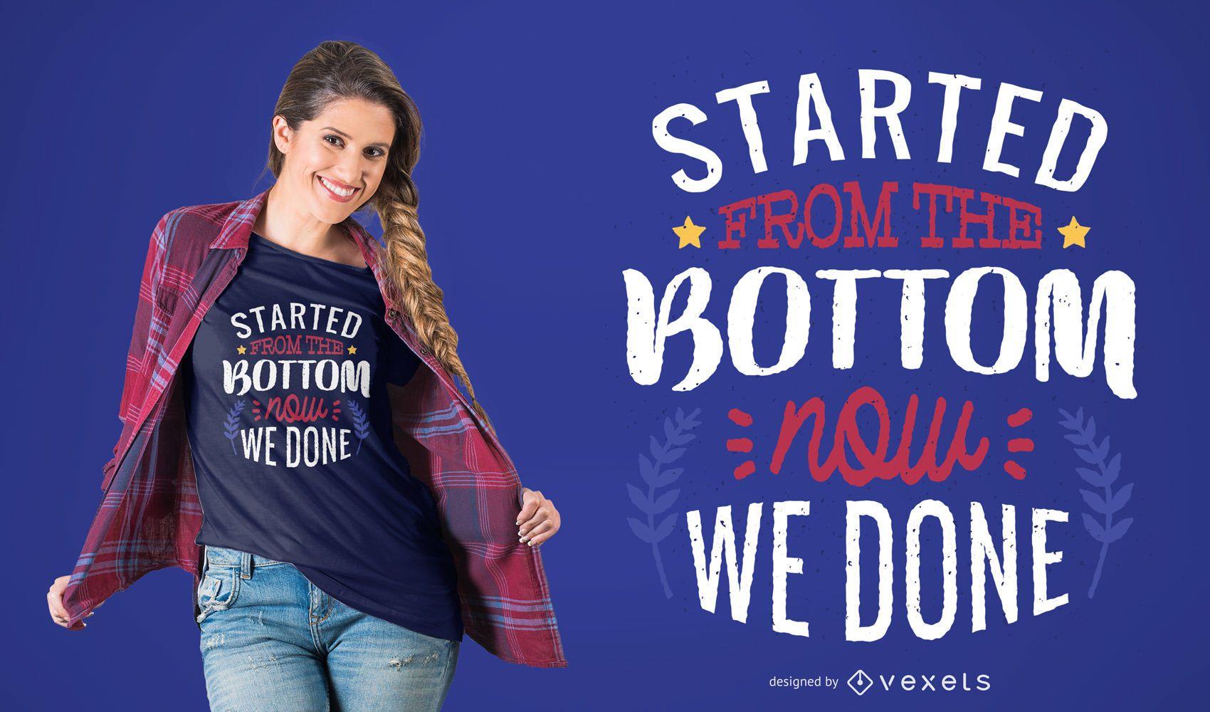Diseño de camiseta Get It Done