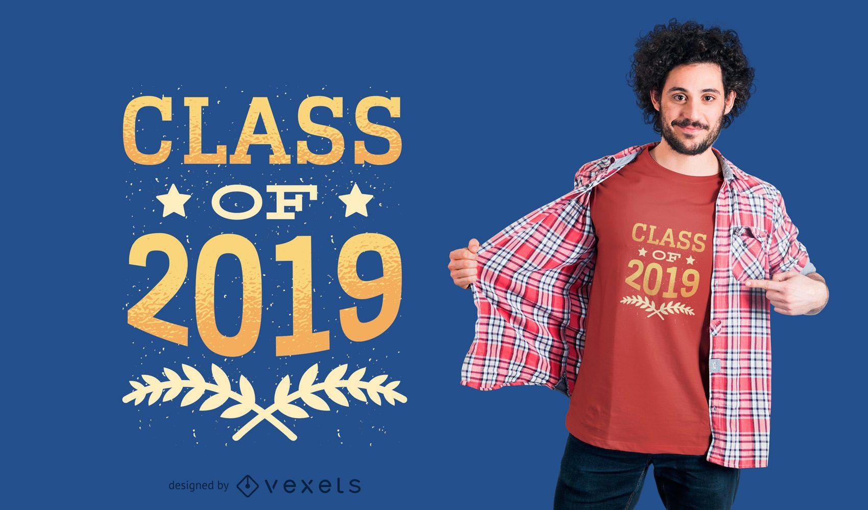 Diseño de camiseta de graduación