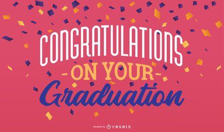 Graduation lettering design