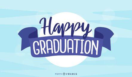 Feliz diseño de graduación