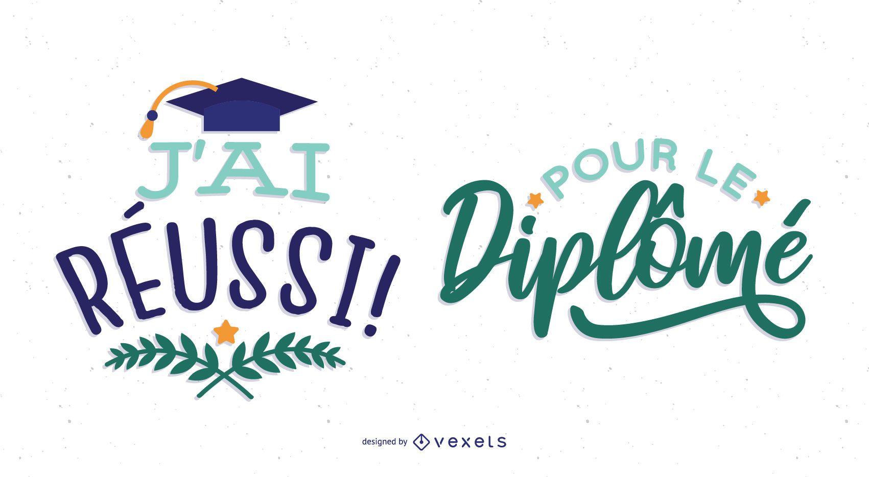 diseño de graduación francesa