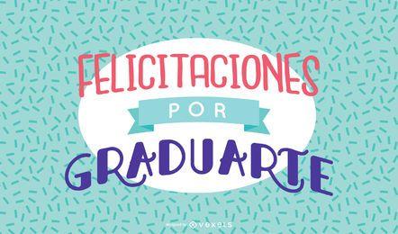 Glückwunschmeldung des spanischen Abschlusses