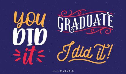 mensagem de felicitações de pós-graduação