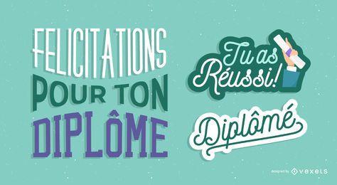 Felicidades francesas por graduarse