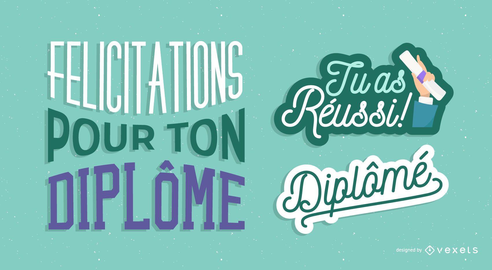 Francés felicitaciones por graduarse