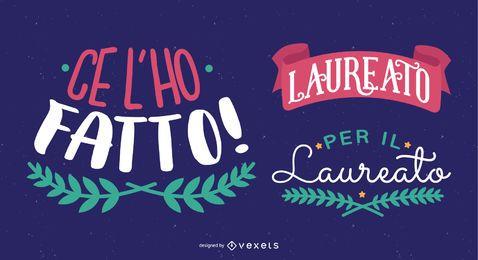 Mensagem italiana de felicitações