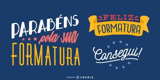 mensagem de formatura em português