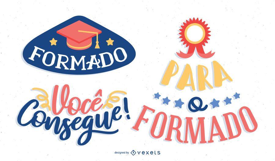 Mensagem de pós-graduação em português