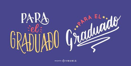 Absolventen Nachricht in Spanisch