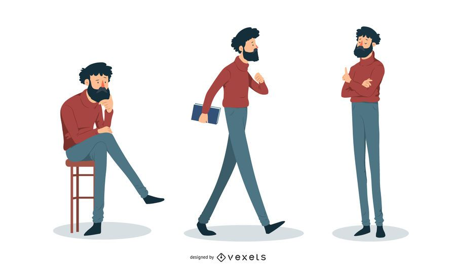 Intellectual man illustration