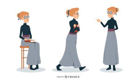 Ilustración mujer intelectual
