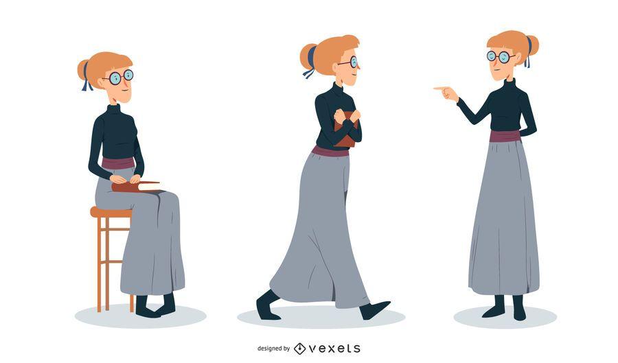 Ilustração de mulher intelectual