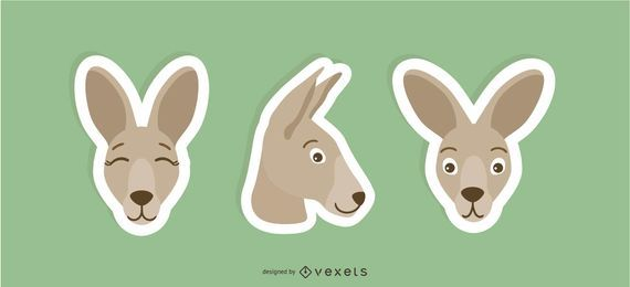 kangaroo sticker set