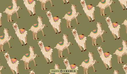Padrão de alpaca