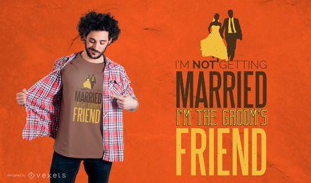 Diseño de la camiseta de la cita de la boda