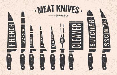 Facas de carne